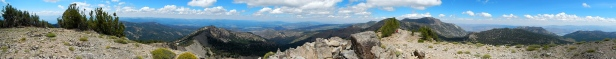 Panorama from Relay Peak, 10,330'