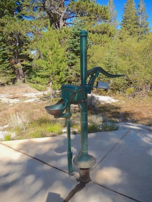 Old cast-iron water pump at Marlette Peak Campground -icy cold and so good - no need to filter
