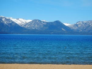 Maggie's Peaks from Nevada Beach - Affectionately named after a barmaid at a Tahoe City Tavern