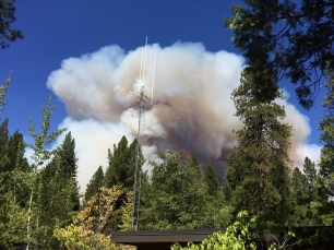 King Fire behind Pollock Pines Ranger Station