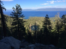 Granite Lake and Lake Tahoe from Maggie's Peak