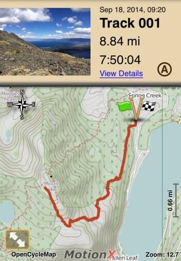Mt. Tallac Climb