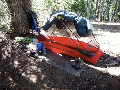 Home for last night in wilderness