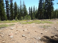 Flat open areas for campsites