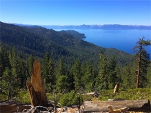 First glimpse of Tahoe from Flume Trail