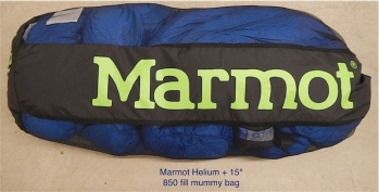 Marmot Helium + 15° Bag