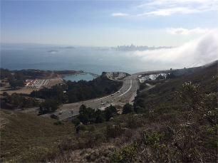San Francisco Bay and Ft. Baker from Coastal Trail