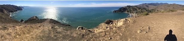 Pano of Marin Coast