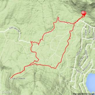 GPS track for snowshoe trip