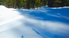Sparkling snow drifts
