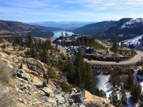 Donner Pass Road above Rainbow Bridge