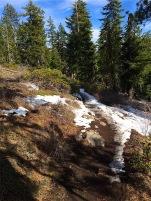 Trail getting muddy