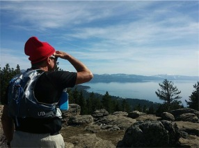 "Surveying to the southwest towards Desolation Wilderness...""I can see Sarah Palin's house from here!"""