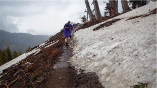 Muddy trail better than snowy trail