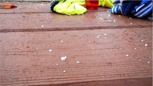 Looks like salt pellets