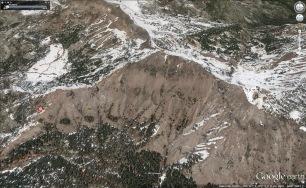 Castle Peak satellite view