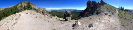 Saddle below the peak