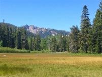 Twin Peaks looking down on the meadows