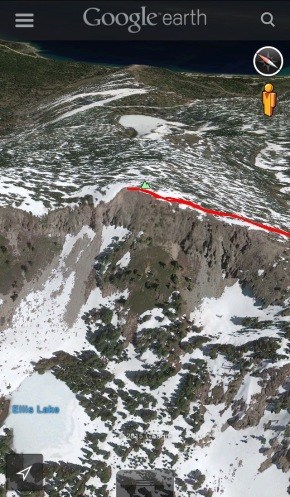 Ellis Peak from Satellite