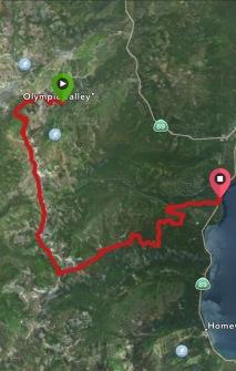 GPS track of run