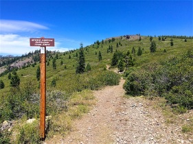 Trail to Negro Canyon Overlook (no, the trail does not end like the sign says)