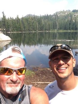 Chris and I at Summit Lake