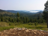 Donner Lake enshrouded in fog