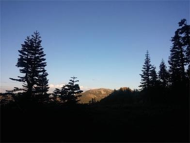 Sun setting over Barker Peak