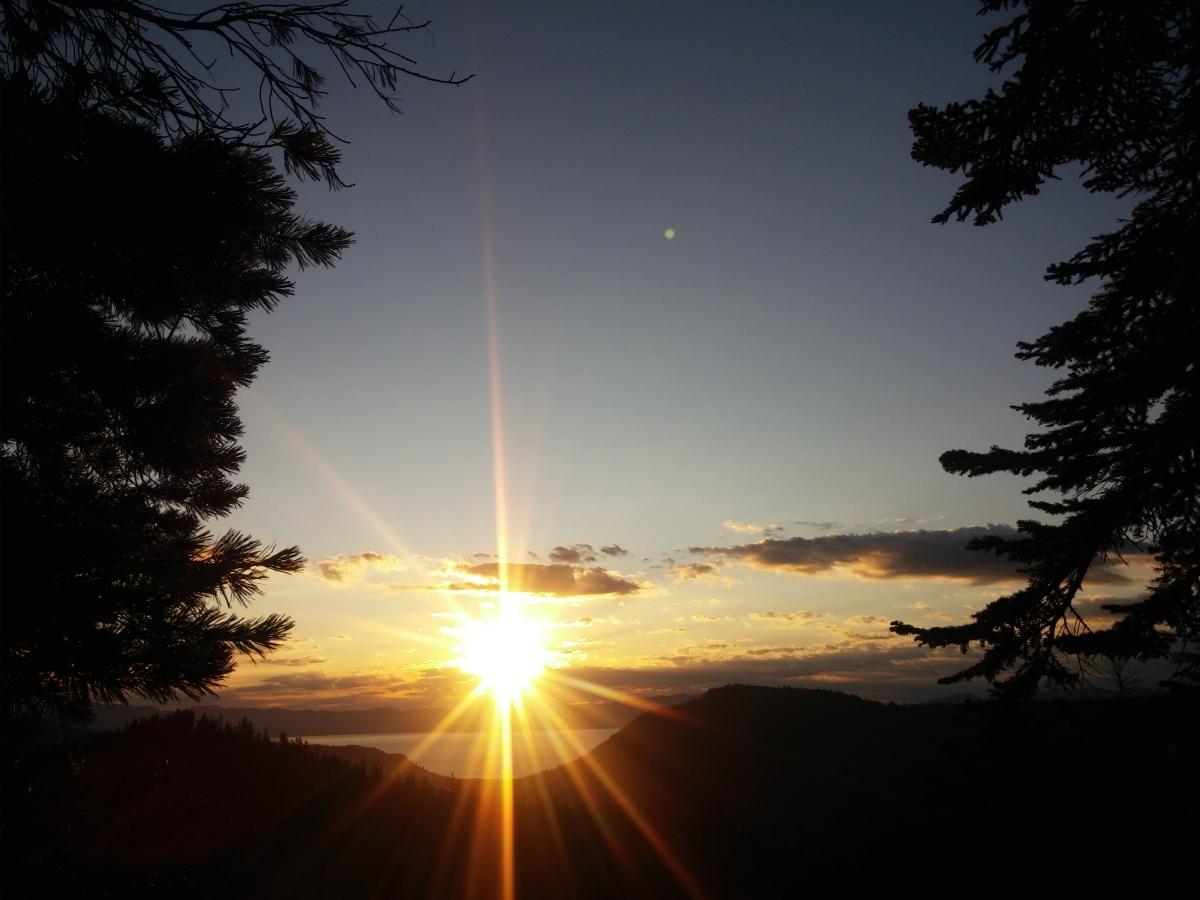 Barker Peak at Sunrise